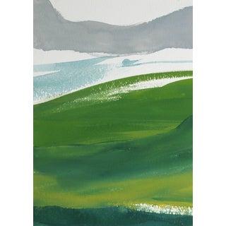 "Rob Delamater ""French Hillside Ii"" Gouache on Paper Landscape, 2017 2017 For Sale"