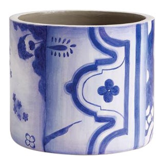 Porto Blue & White Cachepot For Sale