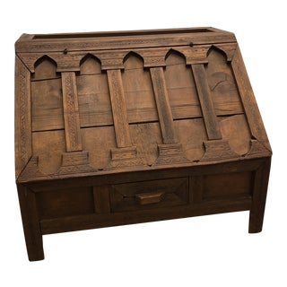 Vintage Moroccan Carved Desk