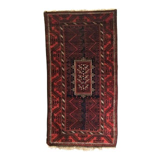Late 19th Century Antique Afghan Baluch Long Rug-3′9″ × 6′10″ For Sale
