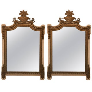 19th Century Antique French Parcel-Gilt Mirrors - A Pair For Sale