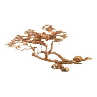 Brass Bonsai Tree Wall Sculpture by Bijan For Sale