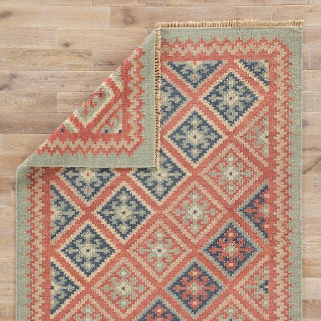Jaipur Living Ottoman Handmade Geometric Red & Blue Area Rug - 9' X 12' For Sale - Image 4 of 6