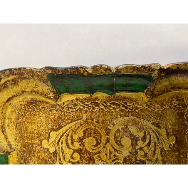 Vintage 1960s Italian Florentine Tray For Sale - Image 4 of 8