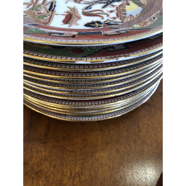 Late 19th Century Staffordshire Medium Sized Plates -Set of 14 For Sale - Image 5 of 10