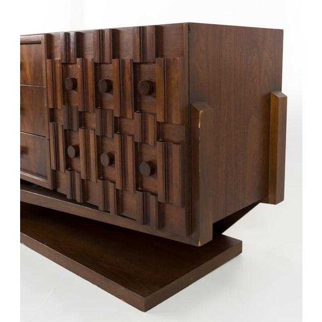 Mid 20th Century 20th Century Brutalist Pedestal Lowboy Dresser For Sale - Image 5 of 12