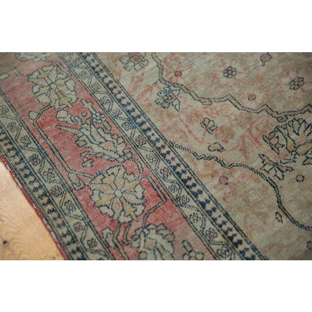 "Antique Kerman Square Rug - 2'11"" X 4' For Sale - Image 9 of 13"