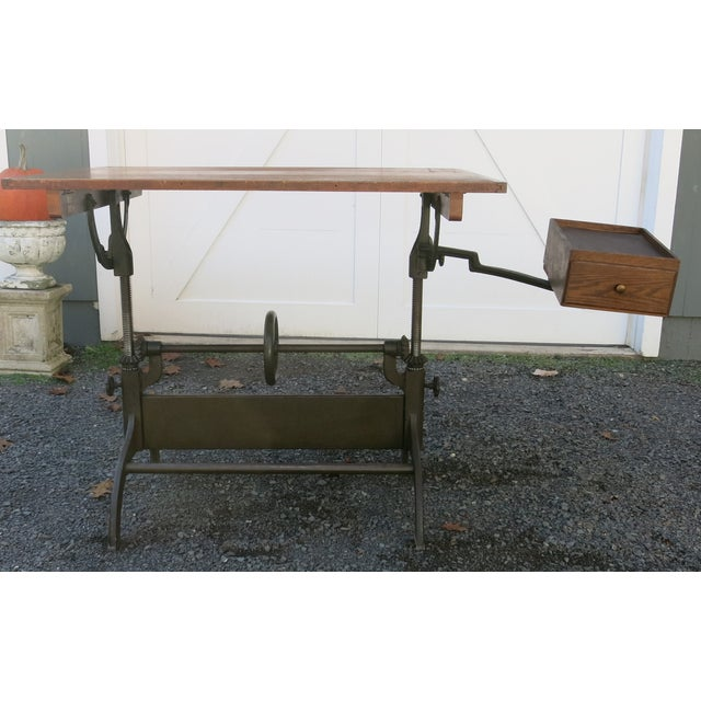20th Century Industrial Hamilton Drafting Table For Sale In New York - Image 6 of 10