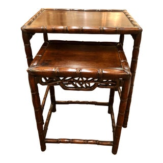18/19th Century Rosewood Chinese Nesting Tables - a Pair For Sale