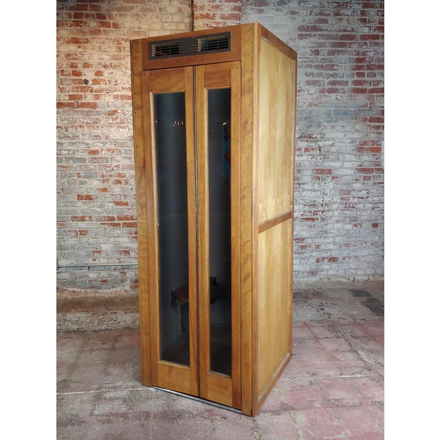 1950s Wooden Telephone Booth W/Original Working Pay Dial Phone For Sale - Image 12 of 12