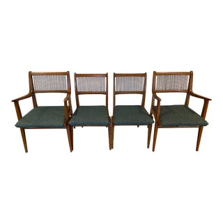Mid-Century Modern Drexel Profile Dining Chairs - Set of 4 For Sale