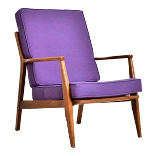 Vintage Purple Danish Armchair For Sale