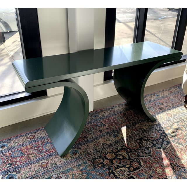 Contemporary Hance Console in Dakota Shadow Finish For Sale - Image 3 of 4