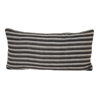 Japanese Shima Stripe and Mohair Pillow For Sale