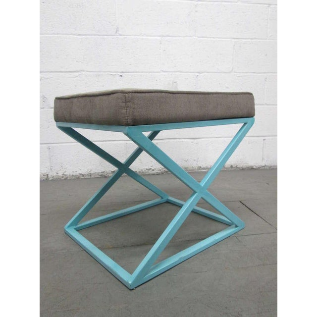 Mid-Century Modern Pair of X-Benches For Sale - Image 3 of 7