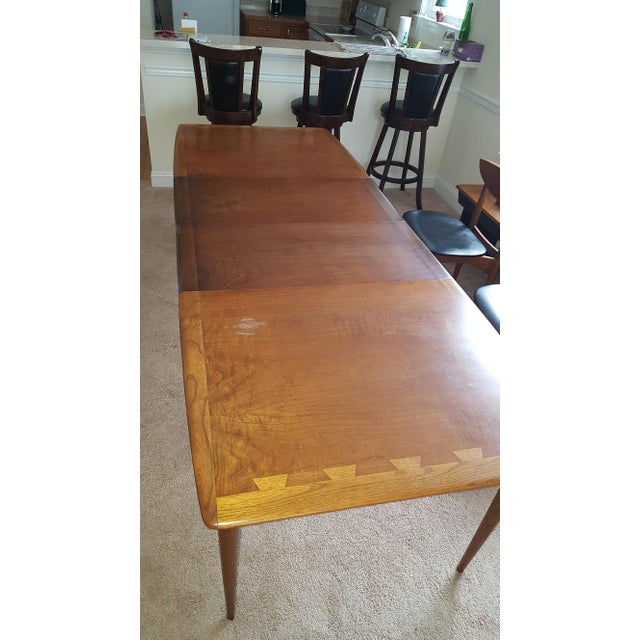 Mid-Century Modern Lane Acclaim Dining Table & Lane Perception Chairs - Set of 5 For Sale - Image 3 of 7