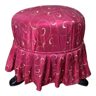 Petite Footed Skirt Stool For Sale