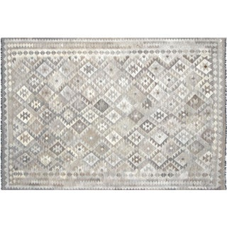"""Nalbandian - Contemporary Afghan Kilim - 6'9"""" X 9'8"""" For Sale"""