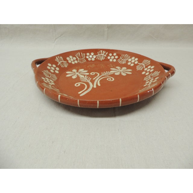 Vintage Portuguese Terracotta Serving Platter - Image 3 of 4