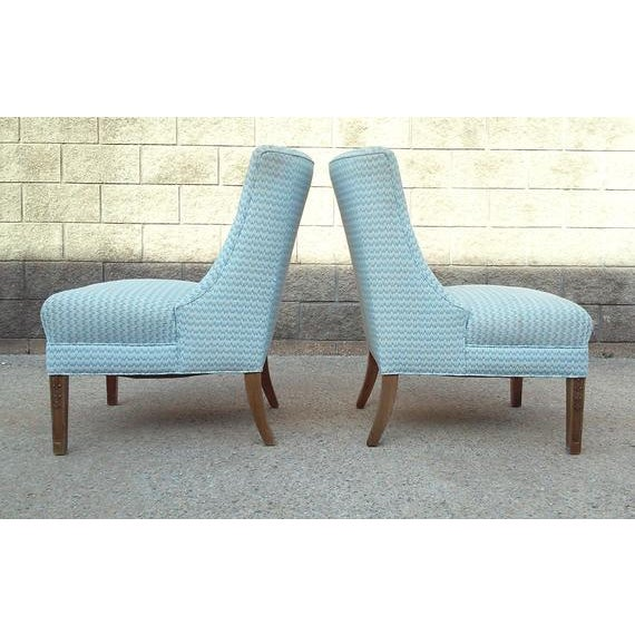 Regency Armless Chairs-A Pair For Sale In Detroit - Image 6 of 7