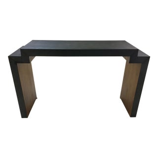 Worlds Away Dark Gray Shagreen Wescott Console Table For Sale