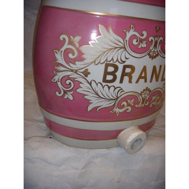 English Traditional Old Ornate English Pub Brandy Porcelain Dispenser For Sale - Image 3 of 5