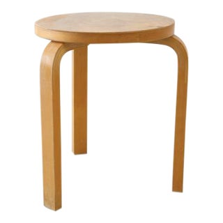 Alvar Aalto Stool 60 in Natural Wood For Sale