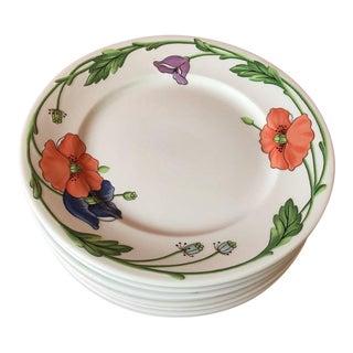 Villeroy Boch Amapola Salad Plates - Set of 8 For Sale