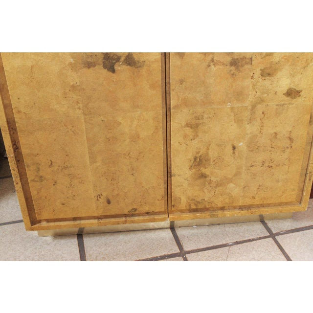 Brown 1980s Glazed Parchment Finish Armoire For Sale - Image 8 of 9