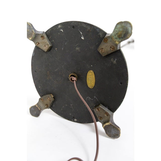 1930's Adjustable Paw Foot Floor Lamp With Green Accent Base For Sale - Image 9 of 10
