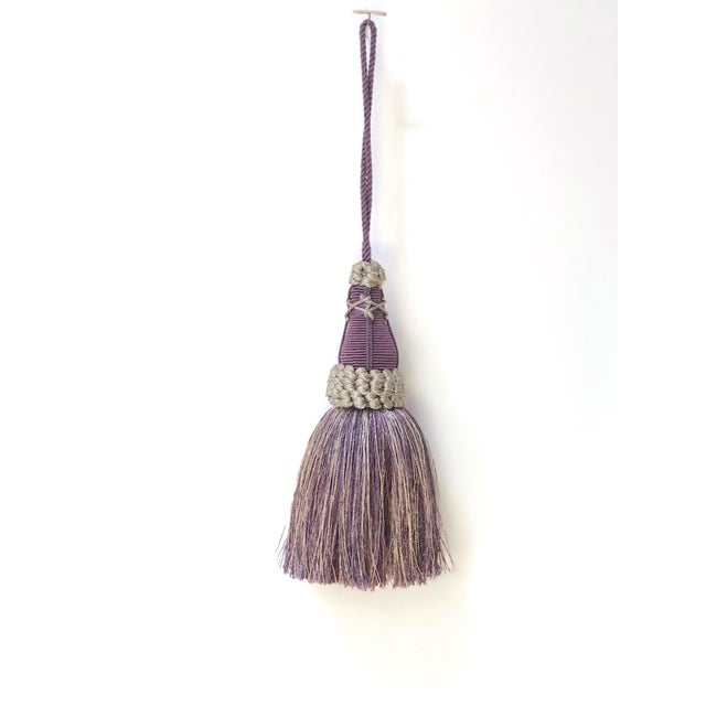 Key Tassel in Amethyst and Gray With Ruche Trim For Sale - Image 11 of 11