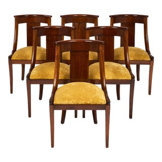 "French Empire ""Gondole"" Chairs - Set of 6"