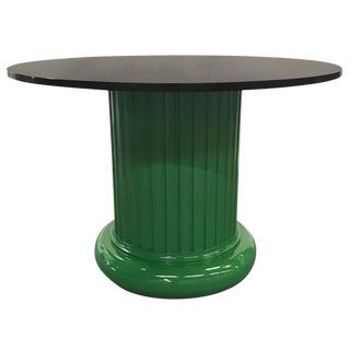 Lacquered Columnar Base Table with Black Granite Top