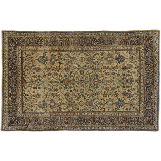 Early 20th Century Antique Persian Sultanabad Rug - 06'04 X 09'10 For Sale - Image 5 of 6