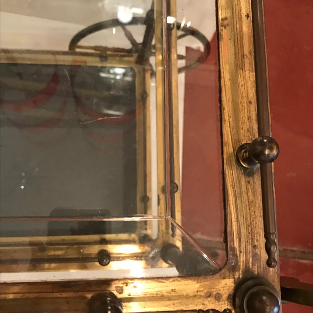Metal French Bar Cart With Starburst Cut Glass Top For Sale - Image 7 of 12