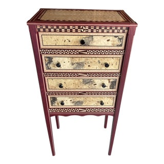 English Eggplant Colored Chiffonier For Sale