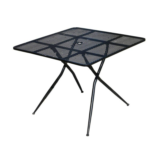 Salterini Mid-Century Modern Steel Outdoor or Patio Dining Set with Four Chairs For Sale In Los Angeles - Image 6 of 8