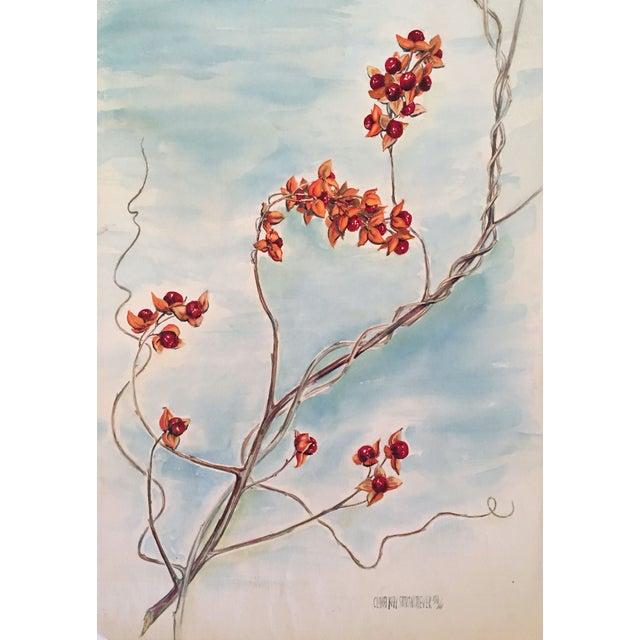 Vintage Floral Watercolor - Image 1 of 4