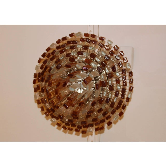 Amber Large 1960s Venini Chandelier For Sale - Image 8 of 10