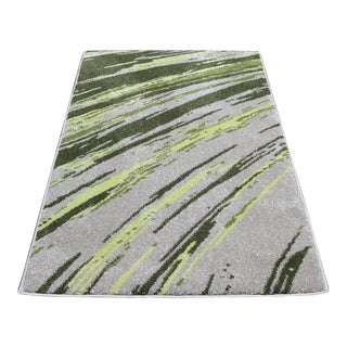"""Abstract Striated Stripes Runner - 2'8"""" x 5'"""
