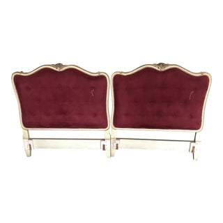 1960s Hollywood Regency French Headboards - a Pair For Sale