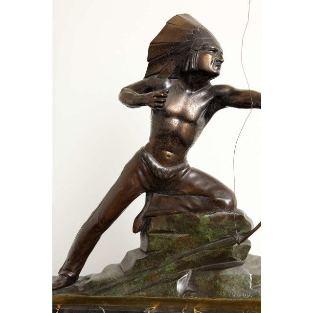 Metal French Art Deco Bronze Signed E. Guy For Sale - Image 7 of 10