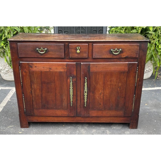 Antiqie 18th C Italian Country Walnut Sideboard Buffet For Sale - Image 9 of 9