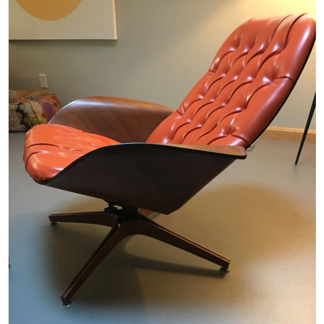 Plycraft 1960's PlyCraft Lounge Chair & Ottoman For Sale - Image 4 of 10