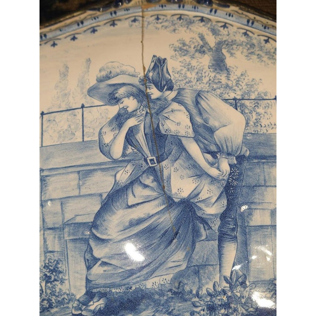 Metal Antique Blue and White Delft Table Box, Late 19th Century For Sale - Image 7 of 13
