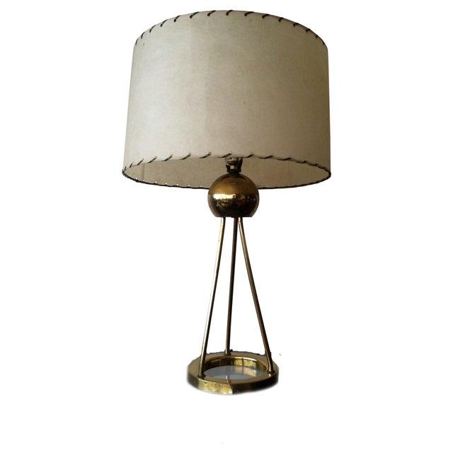 Walter von Nessen Tripod Brass Lamp For Sale