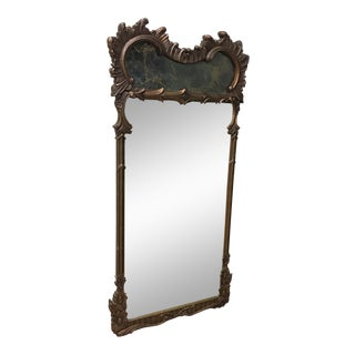 Antique Gold & Stone Trumeau Mirror For Sale