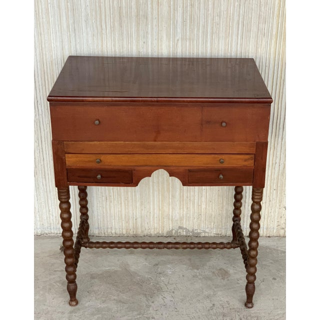 19th Rosewood Art Deco Open Up Vanity or Secretary Desk. Dressing Table For Sale - Image 4 of 11