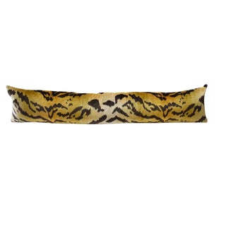 Animal Print Le Tiger Lumbar or Body Down Fill Pillow in Style of Scalamandre For Sale