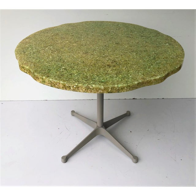 1970s Vintage Resin and Seashell Biomorphic Top Dining Table For Sale - Image 5 of 11
